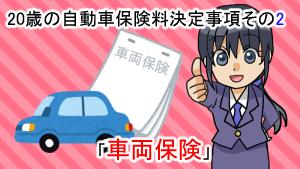 20歳の自動車保険料決定事項その2「車両保険」